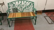 Metal 2 seater bench