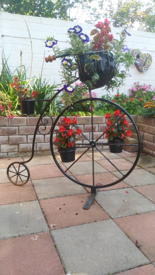 Large Metal Penny Farthing planter