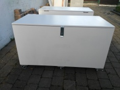 Sturdy equipment chest ready for collection